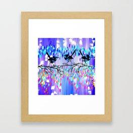 Purple fairy Wren Party Framed Art Print