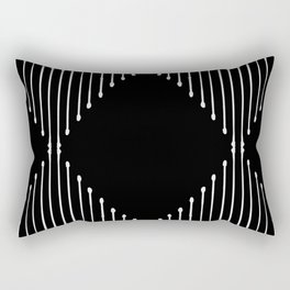 Geo / Black Rectangular Pillow