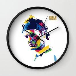 RF Roger Federer Tennis Wall Clock