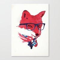 american Canvas Prints featuring American Fox by Robert Farkas