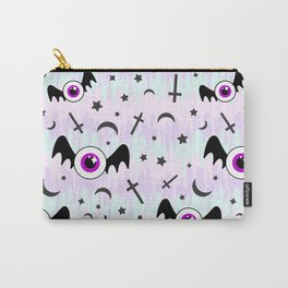 Pastel Melt Winged Eyes Carry-All Pouch