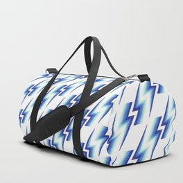 Blue Bolts Pattern Duffle Bag