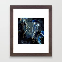 Metallic Ocean III Framed Art Print
