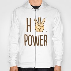 HiiiPower (w/text) : Pale Hoody