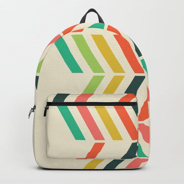 Color line pattern Backpack