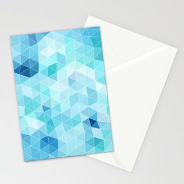 blue triangles Stationery Cards
