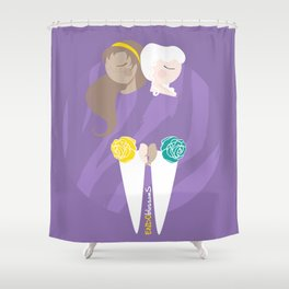 Teenage Endometriosis Awareness - Commissioned Work Shower Curtain