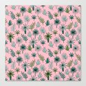 Palm tropical illustration by andrea lauren palm leaves palm trees desert island by andrealaurendesign