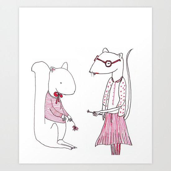 Teacher's Pet Art Print