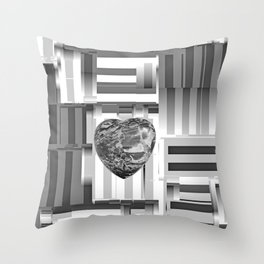 Jasper Heart in Vacancy Throw Pillow