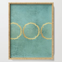 Gold Foil Tree Ring Serving Tray