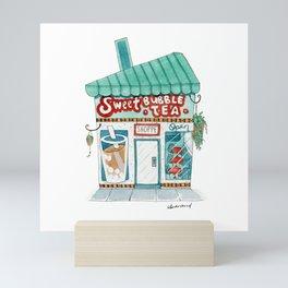 Sweet Bubble Tea Shoppe - Christmas Village Mini Art Print