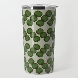 dots zigzag-green Travel Mug
