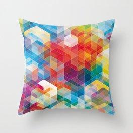 Cuben Curved #5 Throw Pillow
