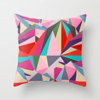 battlefield Throw Pillows featuring The Battlefield by Norman Duenas