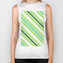 Simply Green Stripes Biker Tank