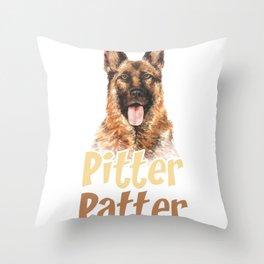 Pitter Patter Shephard Throw Pillow