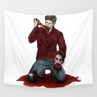dean winchester Wall Tapestries featuring Cain!Dean by Anna's Little Shop of Horrors