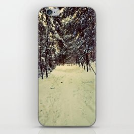 Wintery Snowshoe Hike iPhone Skin