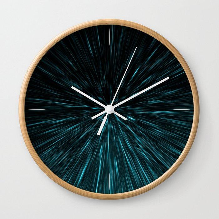 Blue and black Hypergalaxy Wall Clock
