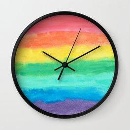 Colorful Watercolors Brush Strokes Wall Clock