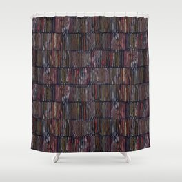 Colored Weathered Wood Board Shower Curtain