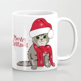 Cat Lover's Meowy Christmas Santa Cat Coffee Mug