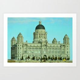 Port of Liverpool Building (Digital Art) Art Print