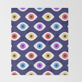 Lucky Eyes Vintage Pattern Throw Blanket