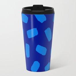 Brushstrokes in Blue Travel Mug