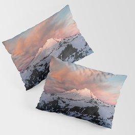 Mount Baker Mountain Adventure Sunset - Nature Photography Pillow Sham