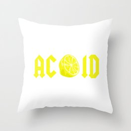 CITRIC ACID Throw Pillow