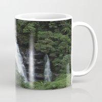 waterfall Mugs featuring WATERFALL by Caio Trindade