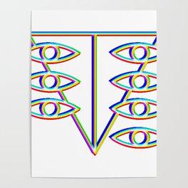SEELE glitch art Poster