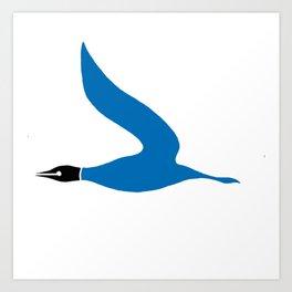 The Blue Goose Art Print