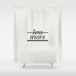 Typography Shower Curtain