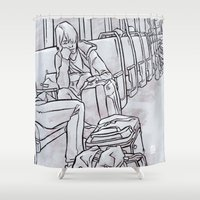 "subway Shower Curtains featuring SUBWAY 2 by ""dfrnt"""