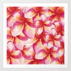 Plumeria Floral Watercolor Art Print