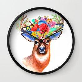 PRITTY DEER Wall Clock