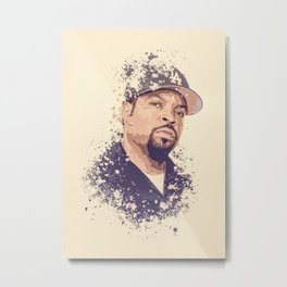 Ice Cube splatter painting Metal Print