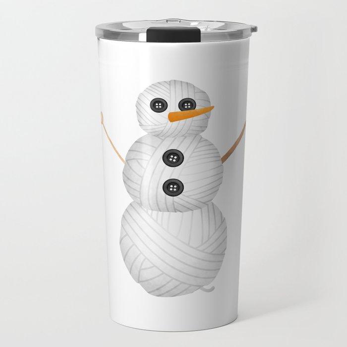 Yarn Snowman Travel Mug