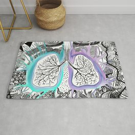 Blooming of the lungs Rug