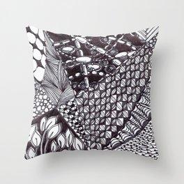 Zen Doodle Graphics zz12 Throw Pillow