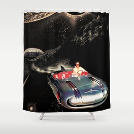 Lady Spacecar Shower Curtain
