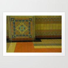 union station, LA Art Print
