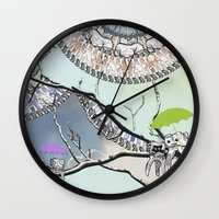 tooth Wall Clocks featuring Family Tooth by infloence
