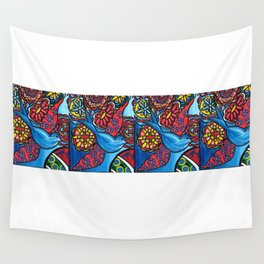Red Wing Blue Bird Wall Tapestry