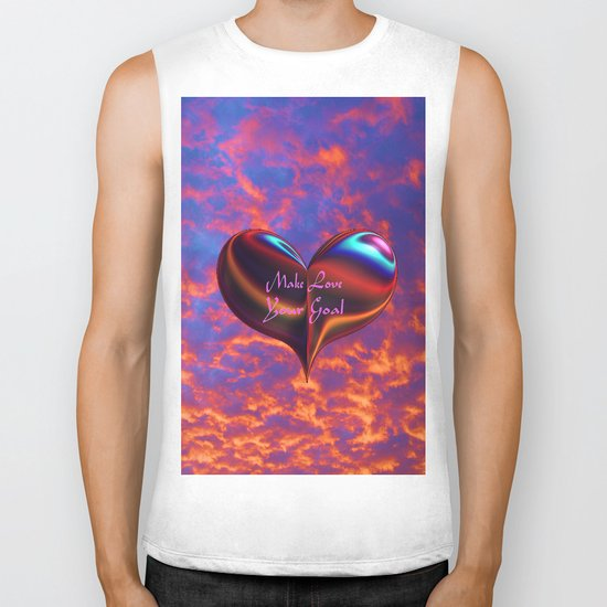 Make Love Your Goal Biker Tank