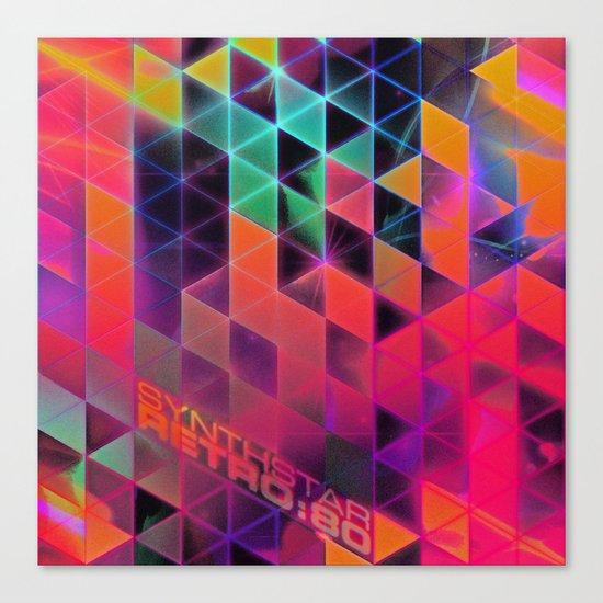 synthstar retro:80 Canvas Print