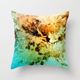 δ Minelava Throw Pillow